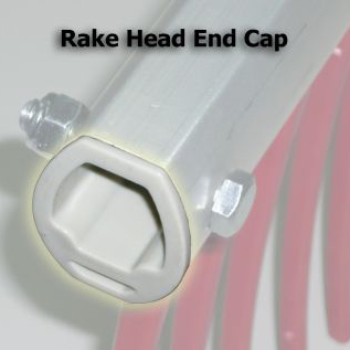 Weed Raker, Head End Cap, WRKEC09, end cap for rake head