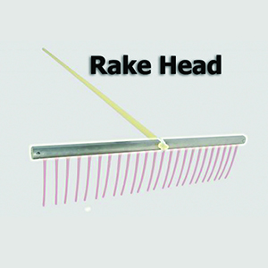 Weed Razer, Rake Head, WRKRH09, replacement part for weed raker